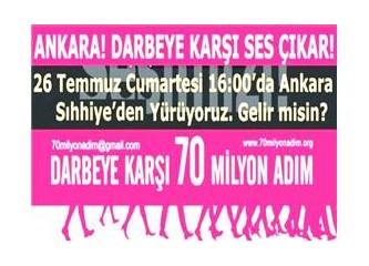 Darbeye karşı 70 milyon adım Ankara'da