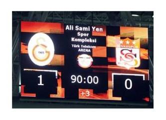 Türk Telekom Arena'da Galatasaray Servet'le kazandı!