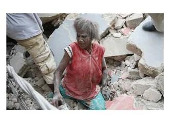 Zavallı Haiti acı çekiyor.