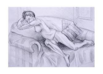 Yorgun ve ılıktı kadın...