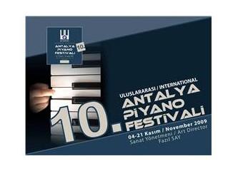 Uluslararası 10. Antalya Piyano Festivali 4 Kasım'da başlıyor