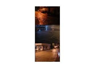 İnebolu'da yağmur geceyi böldü