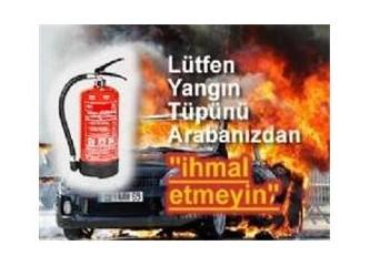 Yangın tüpü ve çok feci bir kaza