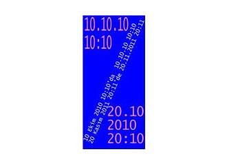 Bu sabah 10.10.10 10:10'da uyuyakalanlar 20.10.2010 20:10'u yakalayabilirler.