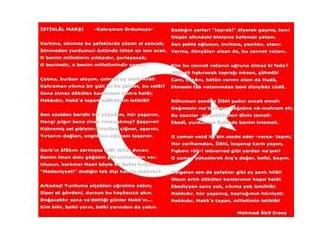 İstiklal Marşı'nın en doğru okunuş şekli