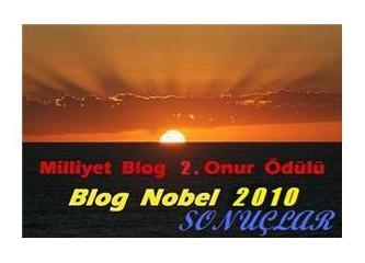 Milliyet Blog 2. Onur Ödülü / Blog Nobel 2010 - Sonuçlar