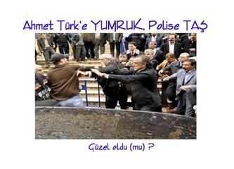 Ahmet Türk'e YUMRUK, Polise TAŞ