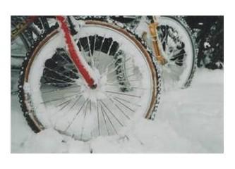 Kışın bisiklet ile uzaklara yolculuk