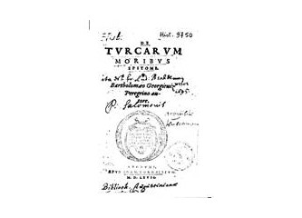 THE FIRST TURKISH TEXT WİTH LATIN LETTERS WAS WRITTEN IN 16. CENTURY