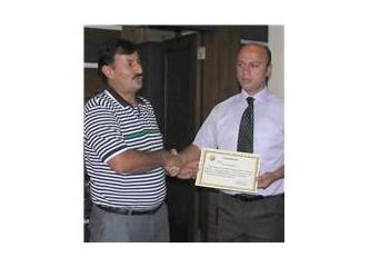 Mersin orman bölge müdürlüğünde başarılı personelllere takdirname verildi
