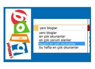 """Milliyet Blog'da """"en çok"""" listeleri için öneriler"""