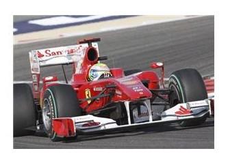 Bahreyn'de zafer Ferrari'nin