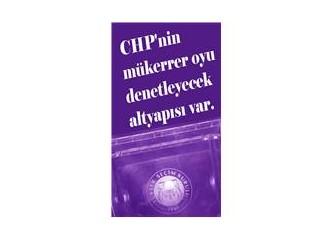 Mükerrer oy kullananları engelleyecek yöntemler için CHP'ye öneriler.