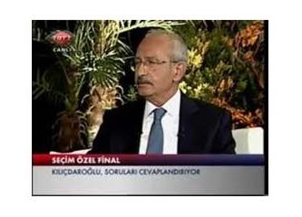 Kılıçdaroğlu ile  TRT 1 de ilginç bir ''Seçim Özel'' programı oldu