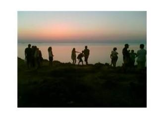 Bozcaada'da gün batımı turu