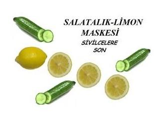 Salatalık - limon maskesi