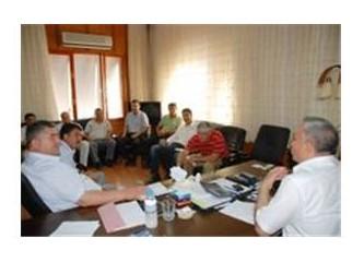 Erdemli Belediye Başkanı Tollu'ya, sahil bandı belediyelerinden destek...