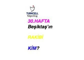 Denizli,  şampiyonluğu 30. haftada garantileriz, diyor; o hafta Beşiktaş kimle oynayacak?