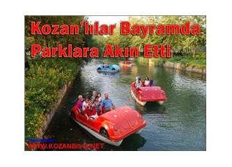 Kozanlılar, bayramların vazgeçilmezi parklara akın etti