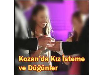 Kozan'da kız isteme ve düğünler