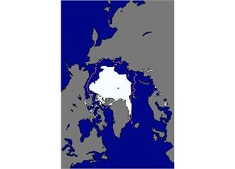 Arktik buz örtüsü biraz daha küçüldü