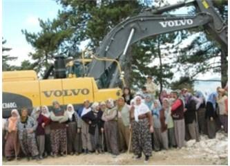 Burdur'un Bucak ilçesinde mermer ocağına karşı halk eylemi