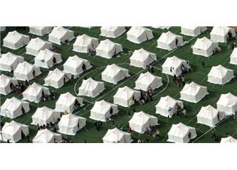 Van ve deprem çadırları...