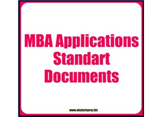 MBA Okullarına Başvuru için Gerekli Standart Evraklar Listesi