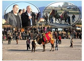 Burhaniye'de pehlivan develere havut hayrı yapıldı