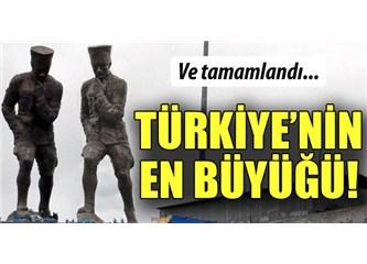 Türkiye'nin en büyük Atatürk heykeli Artvin'de