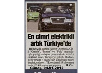 Elektrikli araba ile 1 Liraya 160 km gidiliyormuş...