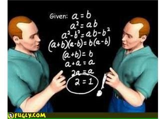 2 = 1 mi dediniz Dr Watson? Yok artık, daha neler, siz, mantıksızlığı iyice tarz edindiniz azizim!