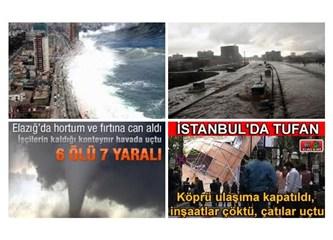 Küresel Isınma hızlandı, Hortumlar, Tufanlar başladı