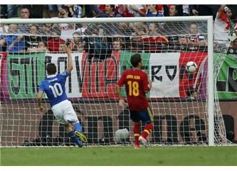 Seyir zevki futbolseverlerin; birer puan İtalya ile İspanya'nın....