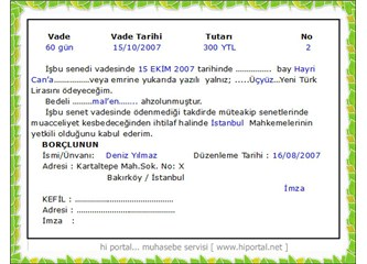Hak ve alacaklarımızın teminatı senet Türkiye'de hiçbir hükmü olmayan kâğıt parçasıdır