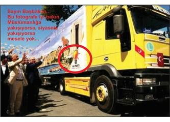 Sayın Başbakan… Bakınız bu fotoğrafa, doğru mu, yakışıyor mu?