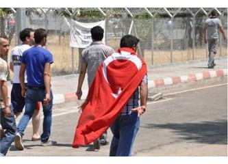 Suriyelilerin bulunduğu kampta isyan çıktı
