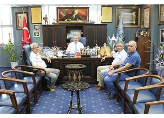 Edremit CHP den başkan Kılıç'a ziyaret