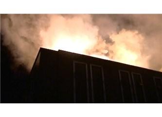 8 eylül, yangın yeri ve hastane koridorları