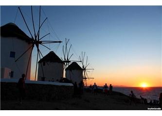 Gün batımı Mikonos