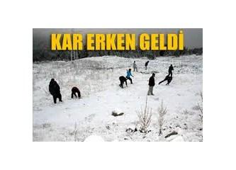 Uludağ'a ilk kar yağdı(!) Antalya'ya şiddetli yağış uyarısı...