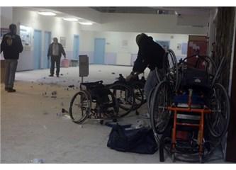Sporcuların tekerlekli sandalyesini kıran hasta ruhlar