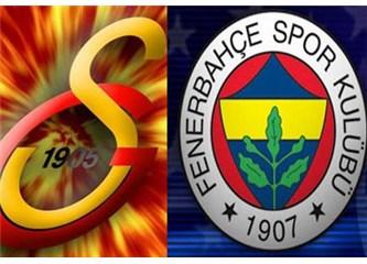 Galatasaray: 2- Fenerbahçe: 1. Galatasaray Fenerbahçe'yi bir kez daha yendi.