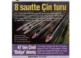 Çin 24 saatlik yolu hızlı trenle 8 saate düşürdü