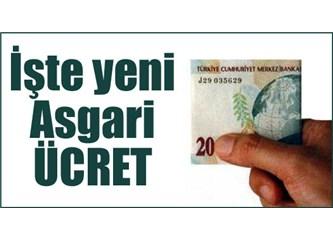 2013 yılının asgari ücreti kesinleşti... asgari ücret ilk 6 ay net 774 TL oldu...