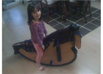 Her çocuk böyle bir sallanan at ister!