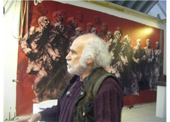 Mehmet Aksoy'un atölyesinde tatlı bir cumartesi