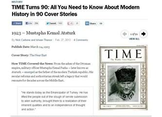 Time dergisinde Atatürk ilk sırada