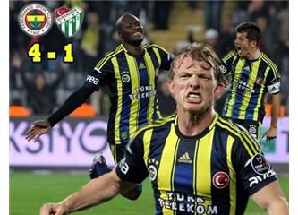 Fenerbahçe 4 attı, zirveye 4 kaldı (Fenerbahçe 4-1 Bursaspor)
