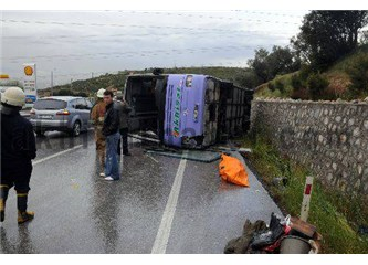 Bindiğiniz Otobüsün kaza yaparak devrileceğini önceden hissetmek